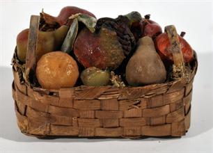 Lotto 290 - Cesta con frutta in cera