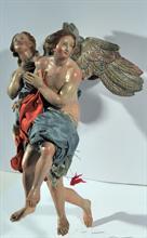 Lotto 163 - Coppia di angeli attr. a N. Ingaldi