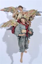 Lotto 166 - Coppia di angeli attr. a Genzano