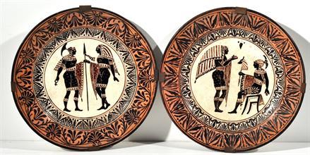 Lotto 306 - Coppia di piatti in ceramica inizi XIX secolo