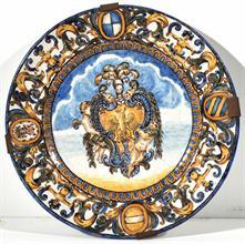 Lotto 308 - Piatto in ceramica XVII / XIX secolo