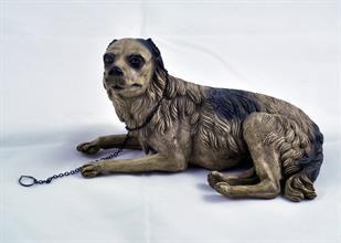 Lotto 115 - Cane accosciato