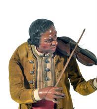 Lotto 169 - Violinista, att. F. Celebrano (Napoli, 1729-1814)