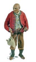 Lotto 232 - Vecchio con agnellino in legno